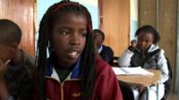 A school pupil in Johannesburg