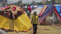 Camp for Nepal earthquake victims