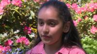 The schoolgirl helping to raise money in Nepal