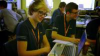 Teenagers competing at the Cyber Security Challenge UK
