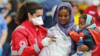 Migrants helped in Messina, Sicily