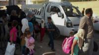Iraqi civilians fleeing Ramadi