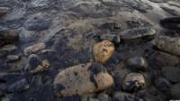 Oil on Refugio State Beach