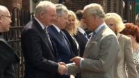 The Duke and Duchess of Cornwall meet Northern Ireland's first and deputy first ministers