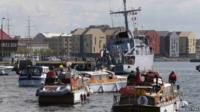 """Little Ships"" entering Dunkirk harbour"
