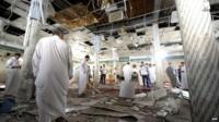 Men in mosque after blast