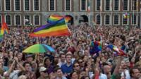 People celebrating in Ireland