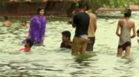 Bathers in Delhi