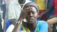 South Sudan market stall holder