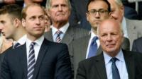 The Duke of Cambridge with FA chairman Greg Dyke (right)