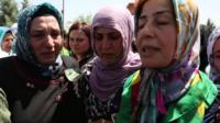 Kurdish women at funeral