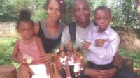 Family photo sent in by users of the BBC Ebola Facebook community and WhatsApp information service