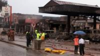 Petrol station destroyed in fire
