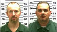 Two inmates who escaped a maximum security prison in New York state