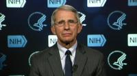 Dr Anthony Fauci speaks to BBC World News America from NIH