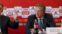 Fifa deputy Jerome Valcke at a news conference in Russia