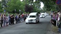 Cortege of Germanwings air crash victims arrives in Haltern