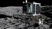 Artist's impression of ESA's Philae lander on comet 67P