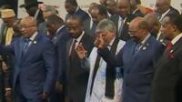 Bashir alongside other African leaders