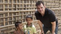 Actor Matt Dillon visiting with Rohingya refugees