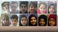 Twelve members of the missing Bradford family