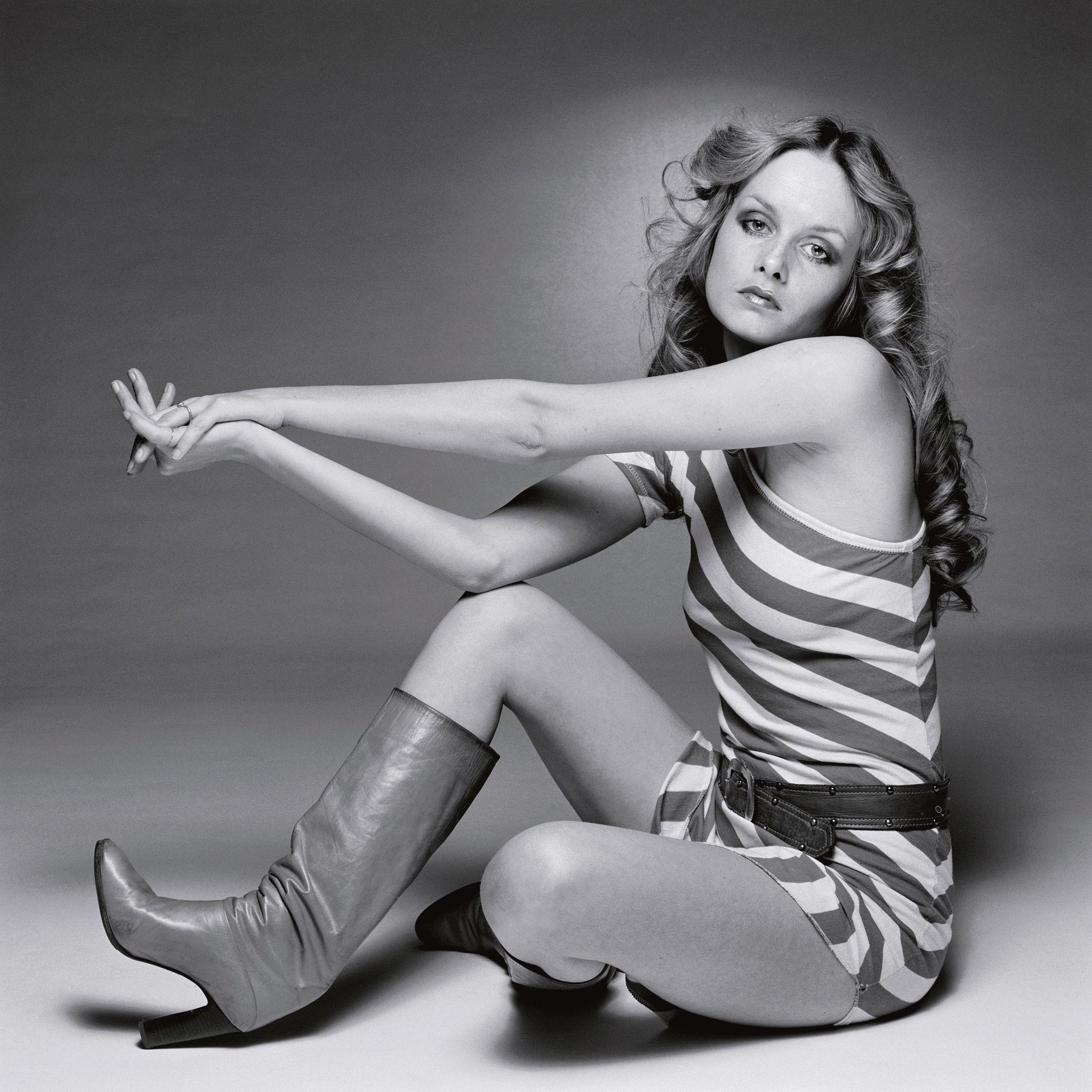 British model Twiggy in 1975