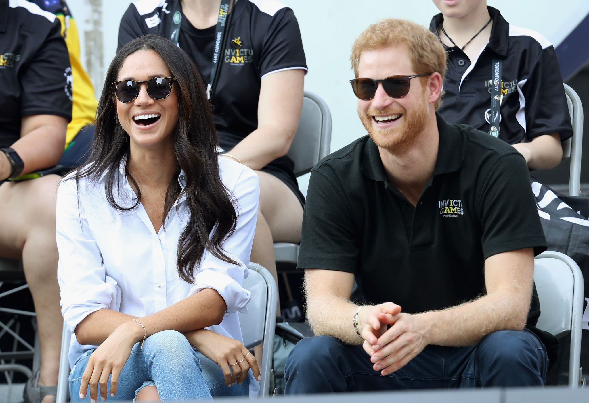 Prince Harry and Meghan Markle in Toronto in 2017