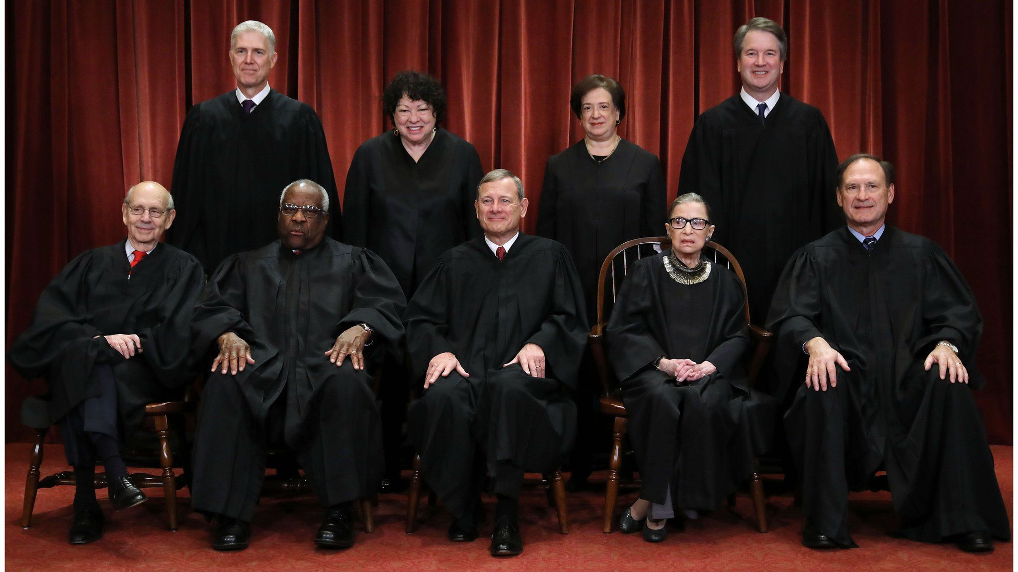 Supreme Court class photo 2018 including new justice Brett Kavanaugh