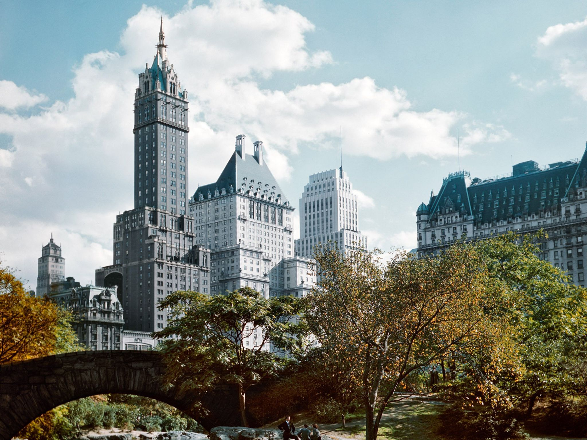 Plaza Hotel (Right), Central Park, New York