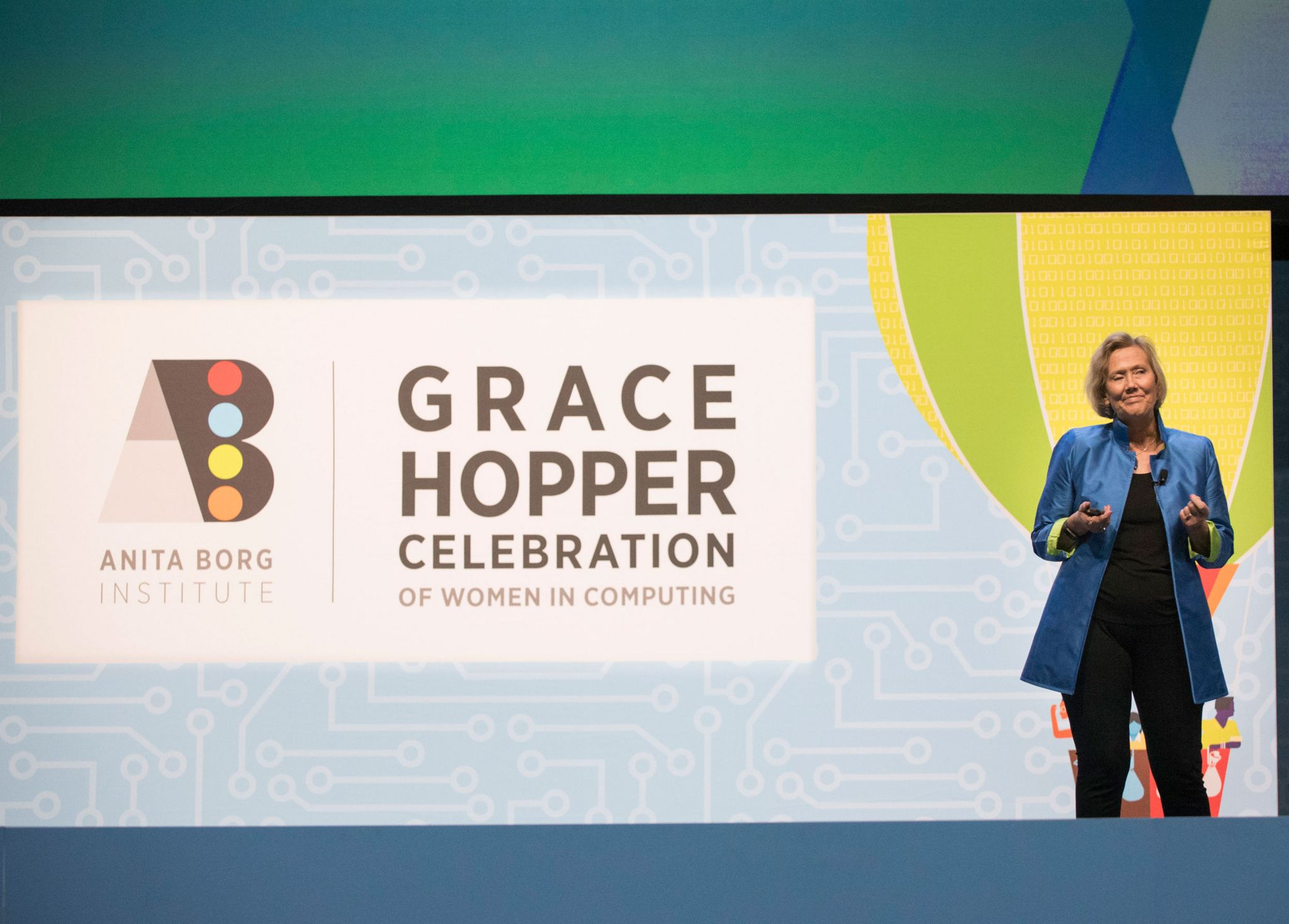 Telle Whitney, CEO and president of the Anita Borg Institute, co-founder of the Grace Hopper Celebration