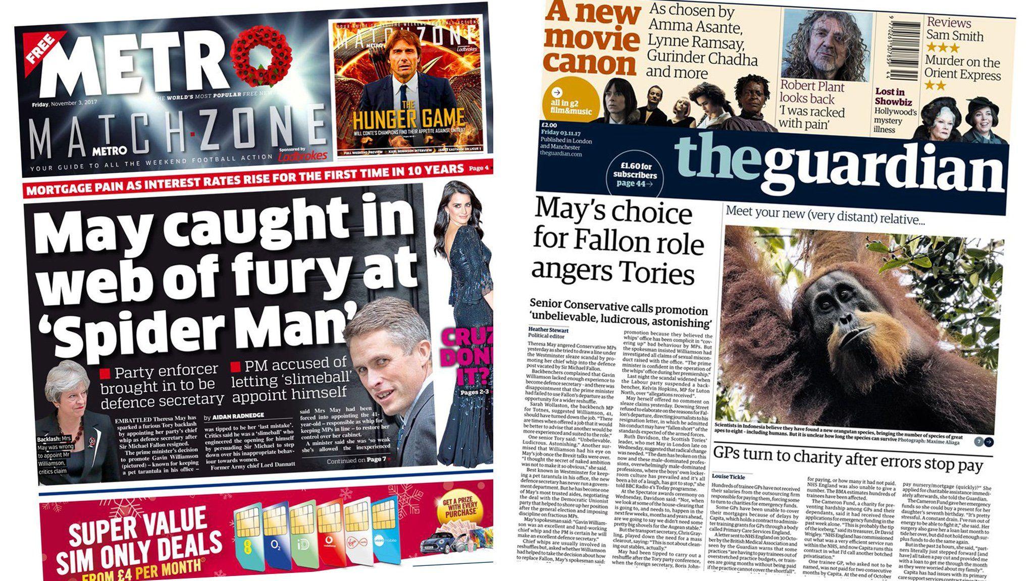 Metro and Guardian