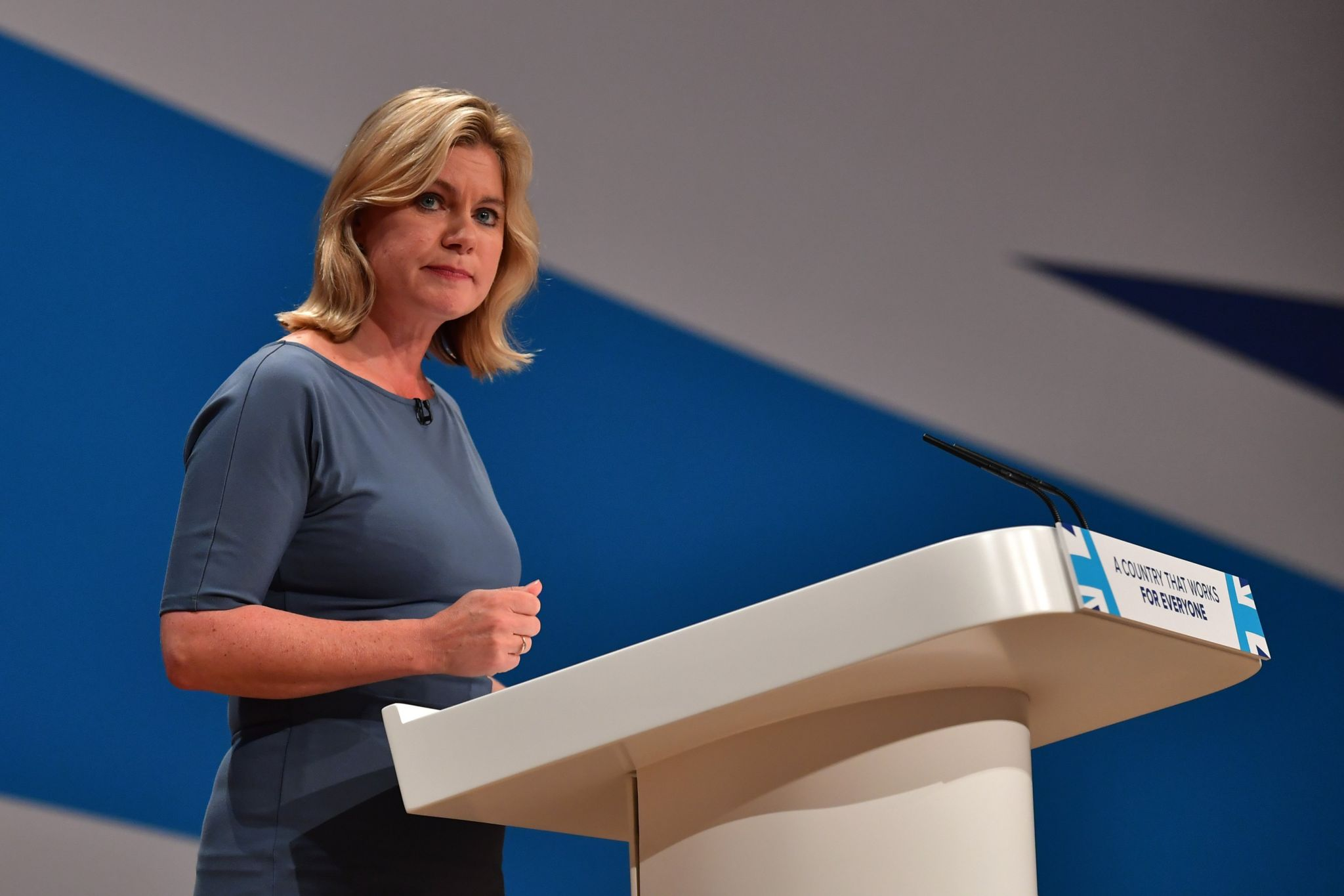 Justine Greening the Conservative Party conference in 2016