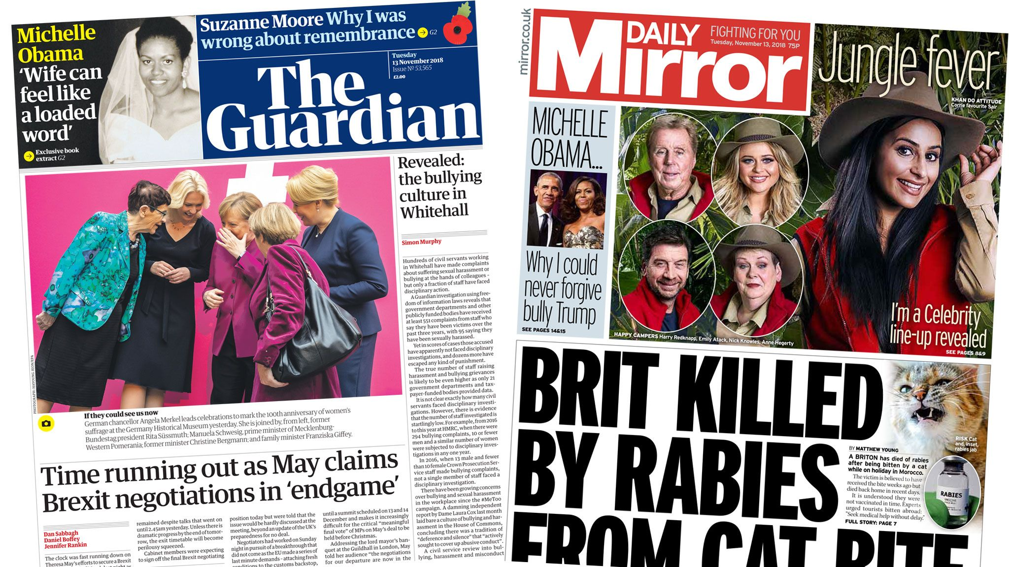 The Guardian and Daily Mirror