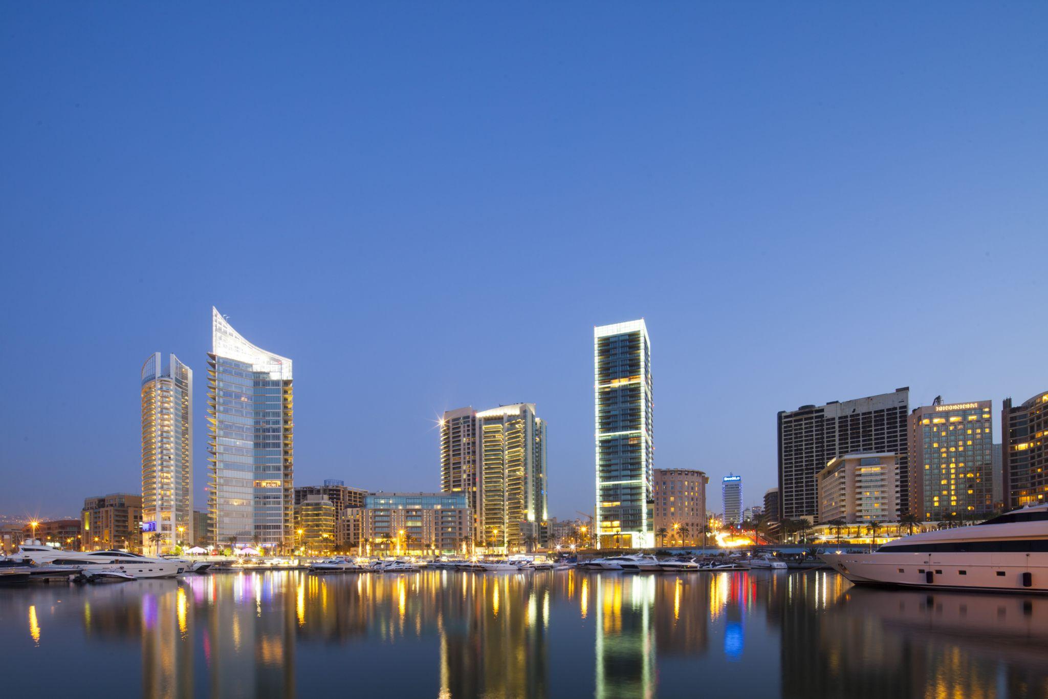 Beirut skyline from Zaitunay Bay