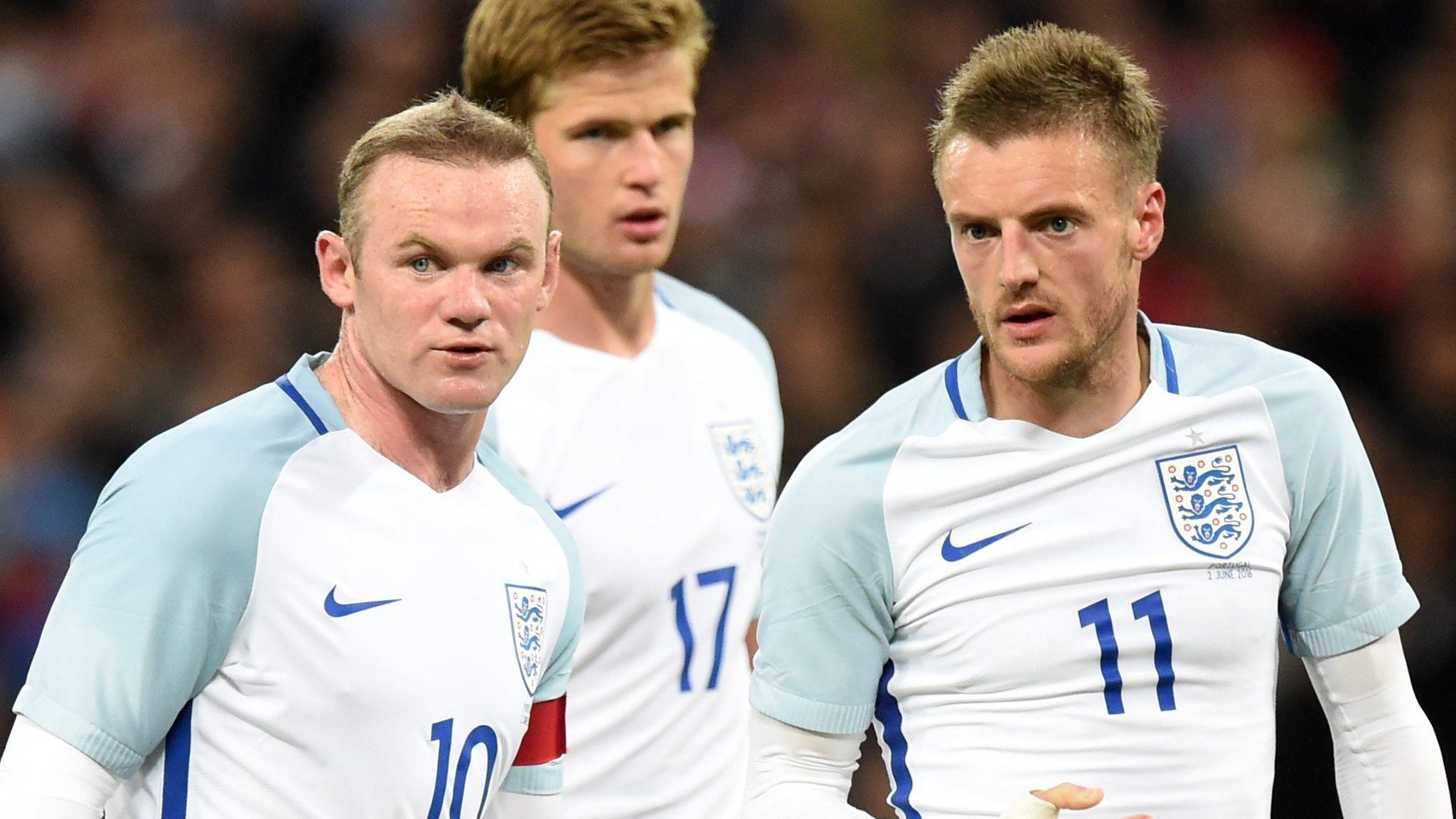 England players look pensive