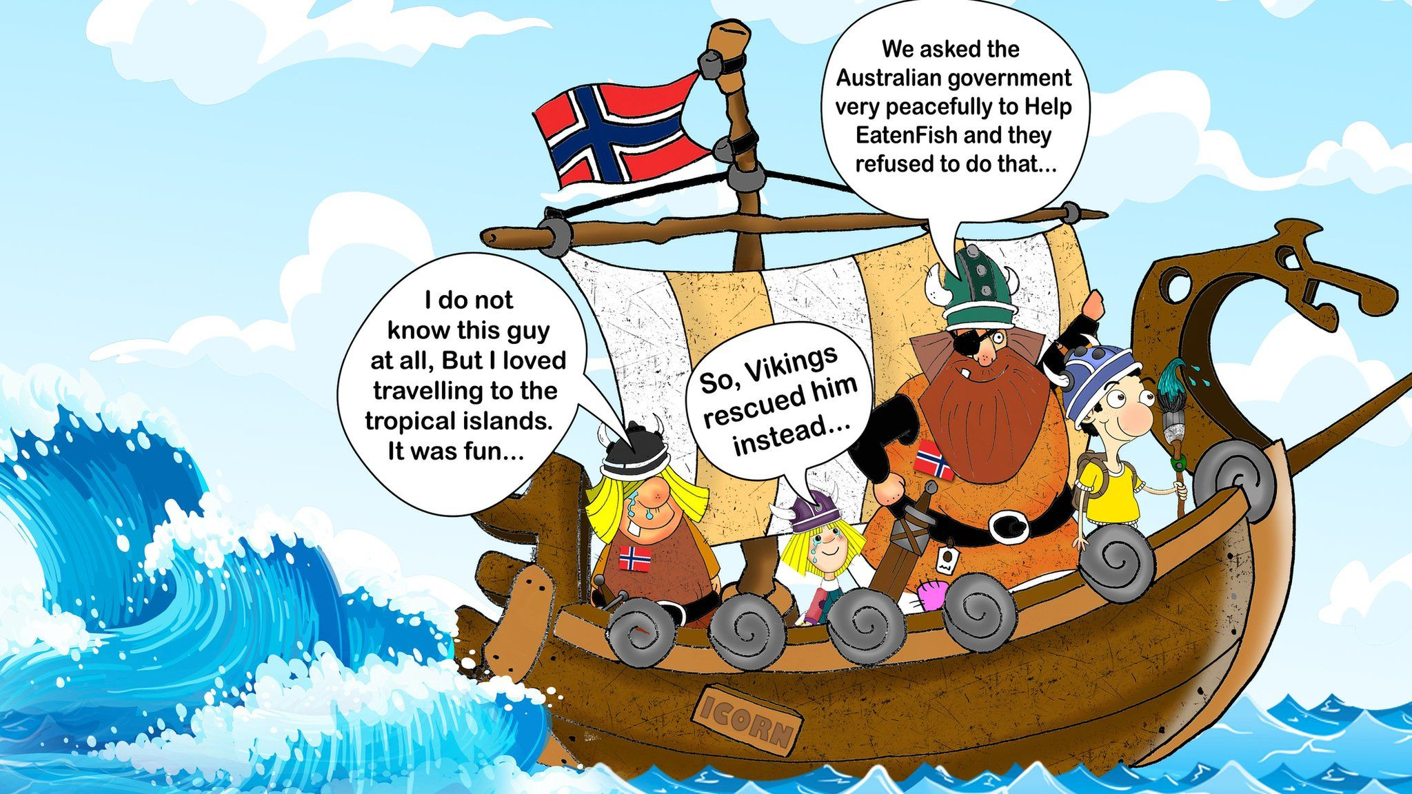 Eaten Fish on a boat with Vikings from Norway
