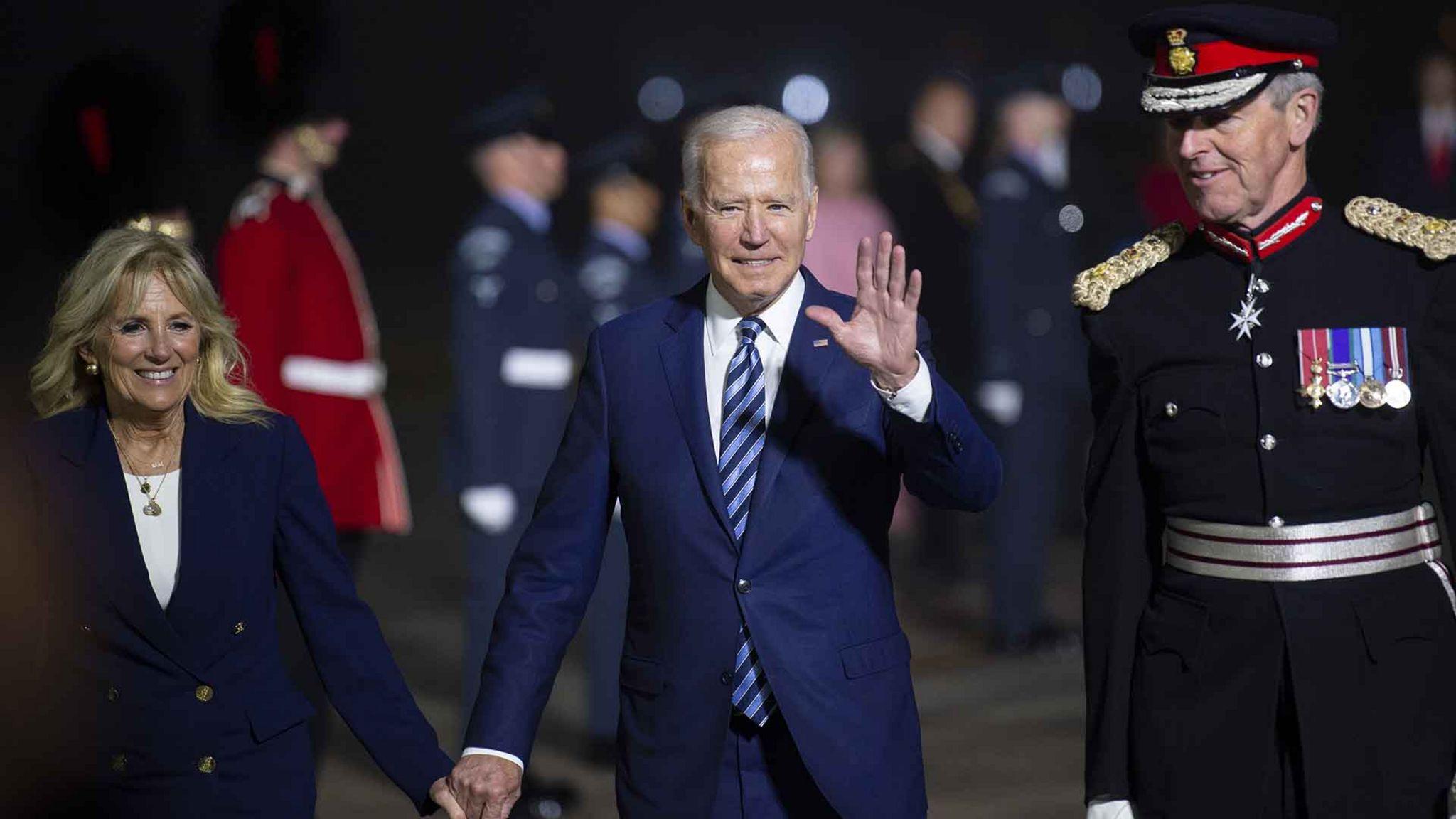 President Biden arriving in Newquay, 9 June 2021