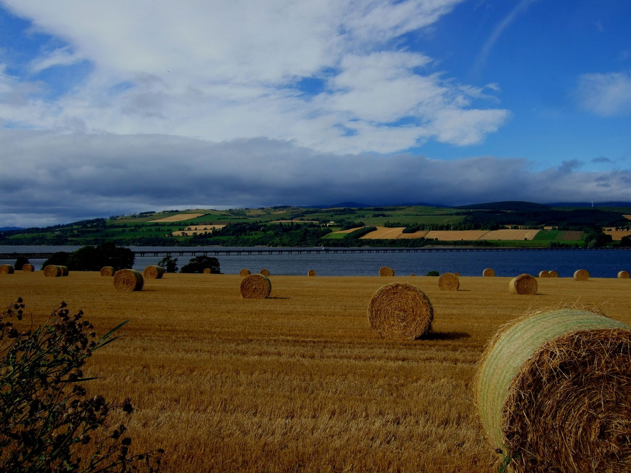 I was visiting the Black Isle at the weekend with my sister and stopped off to take a picture of haystacks with the Cromarty Bridge in the background. Susan Watt, from Glasgow
