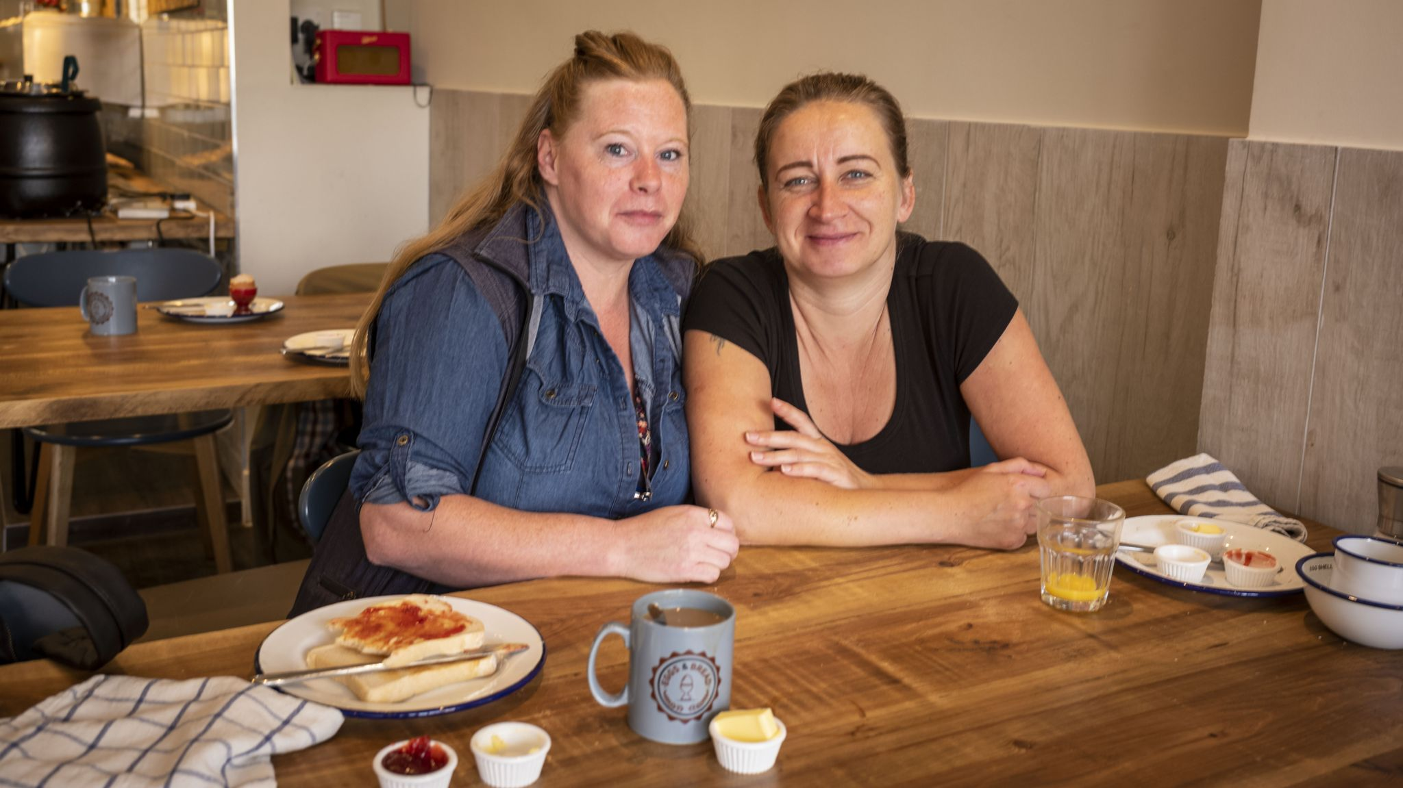 Julie and Kate are regulars at Egg & Bread