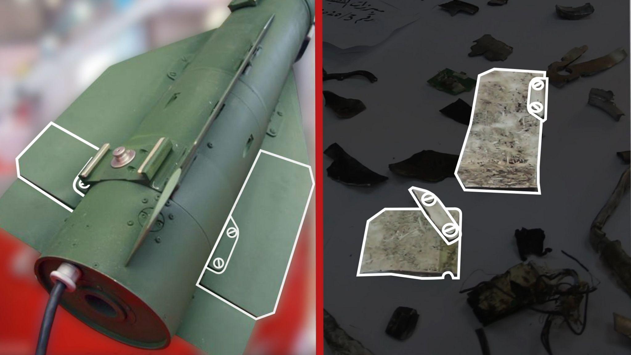 Images of the shrapnel