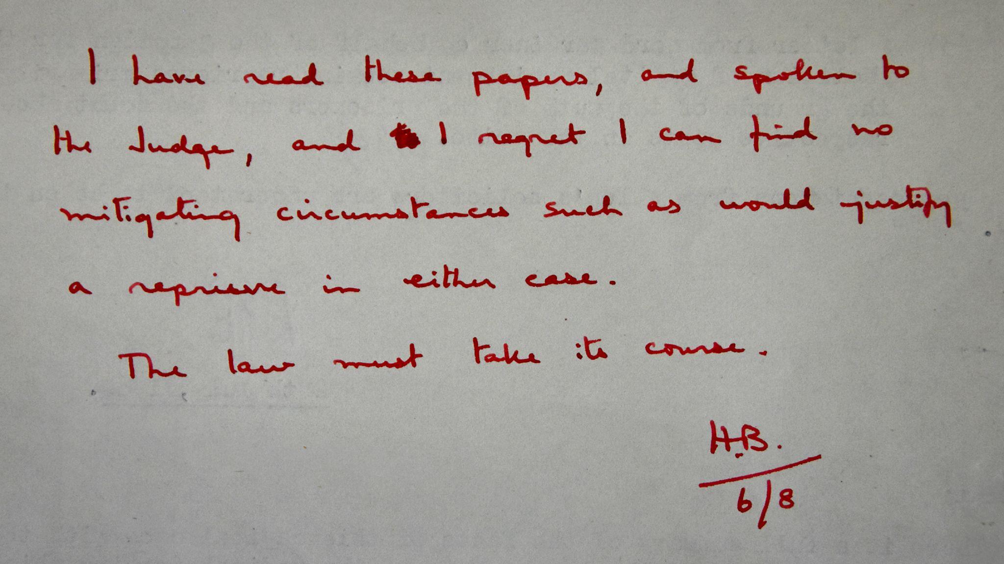 The Home Secretary's memo