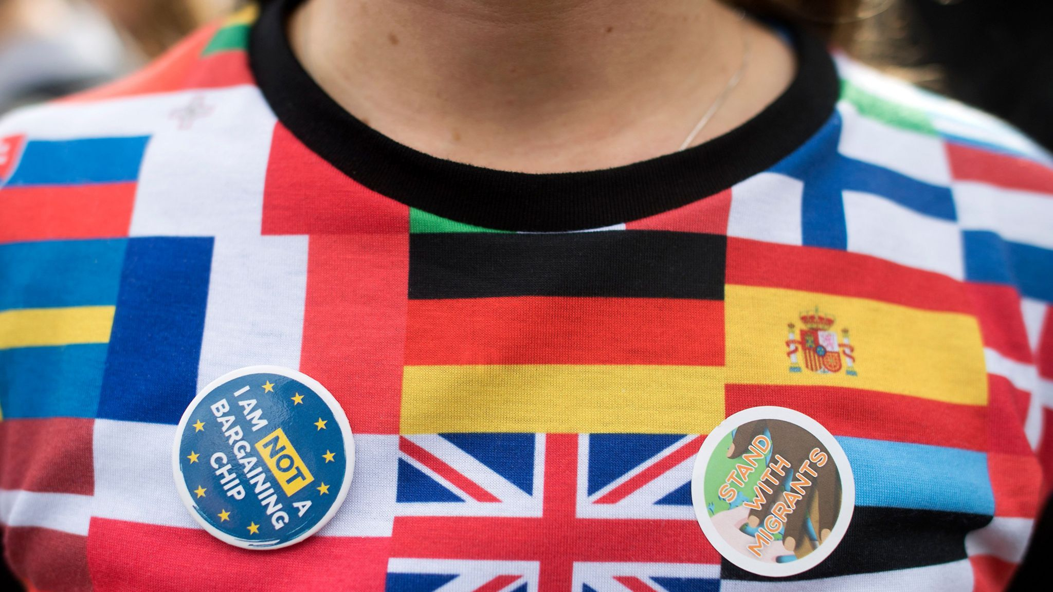 A Remain support in a flags jumper