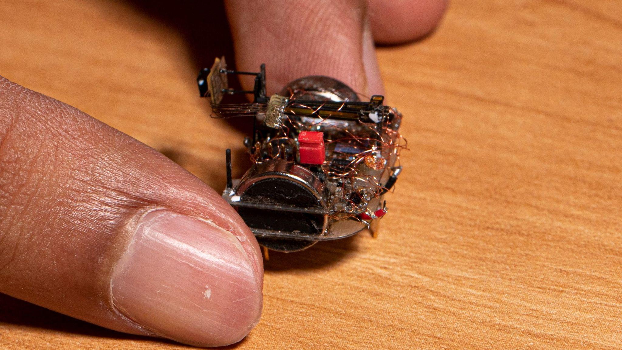 A tiny camera robot