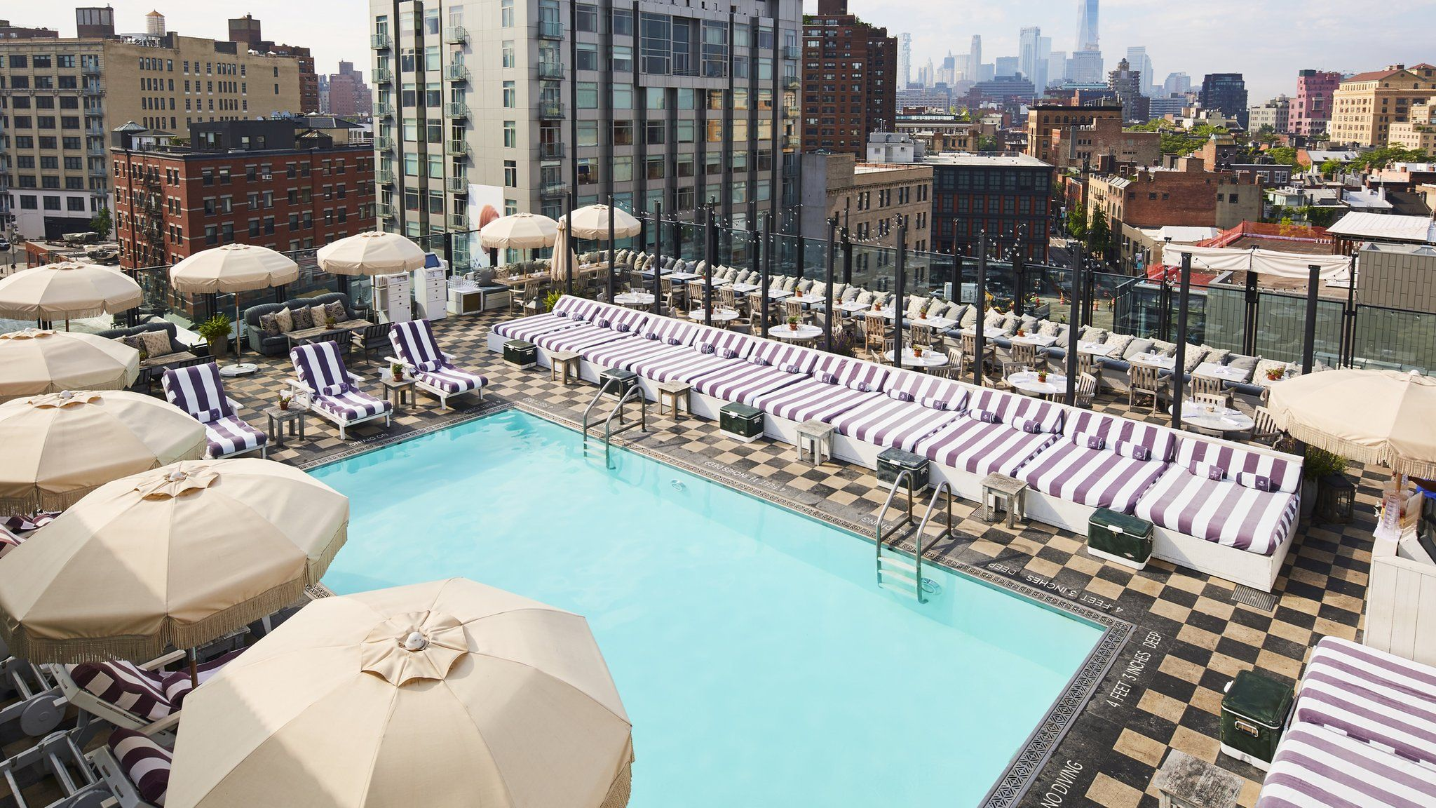 Soho House New York has a rooftop pool