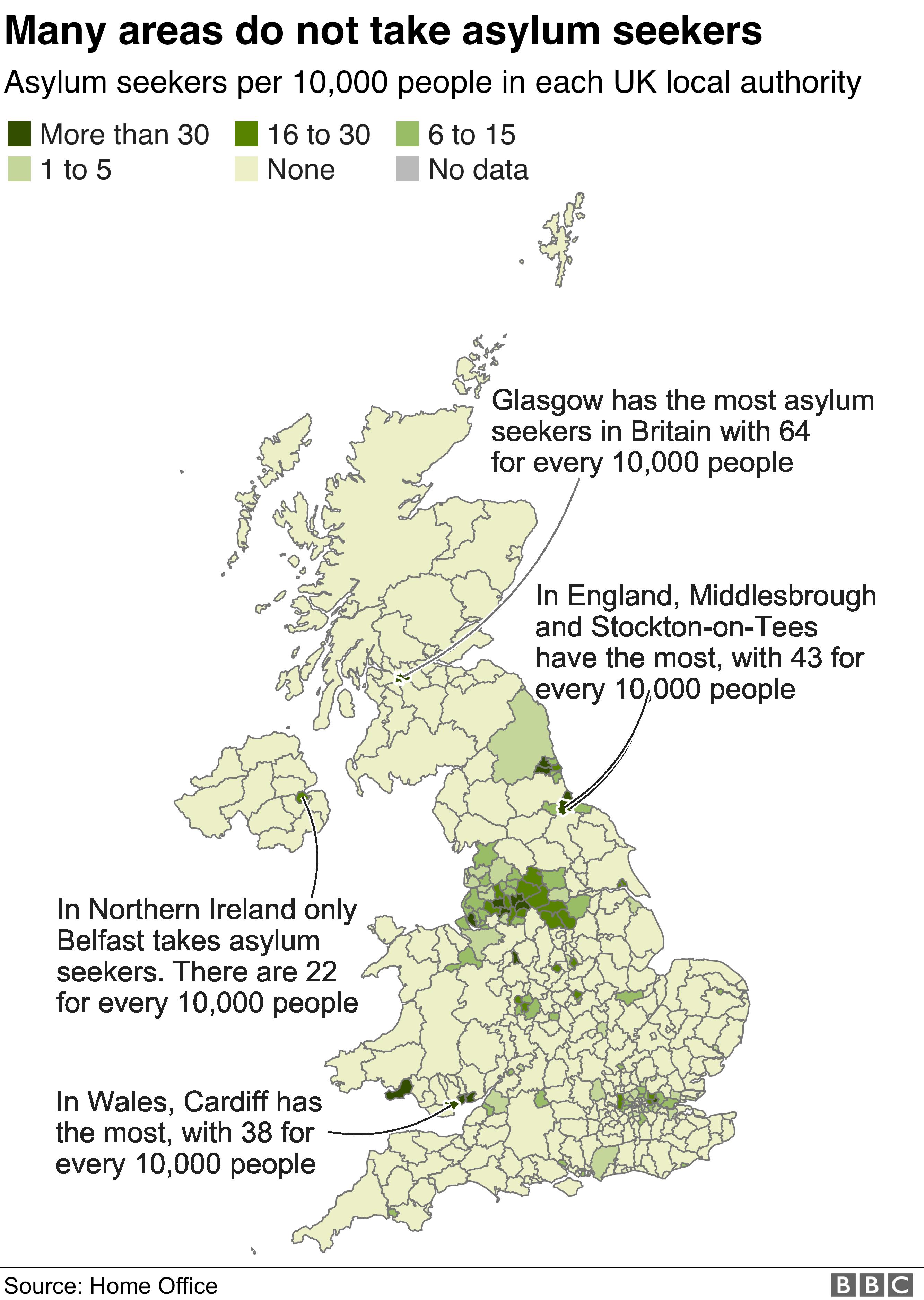 bbc map of asylum