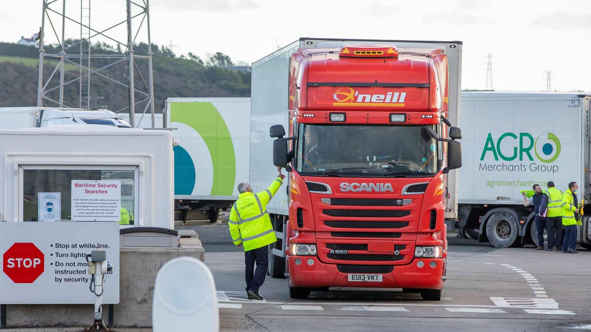 Lorry at a port in Northern Ireland