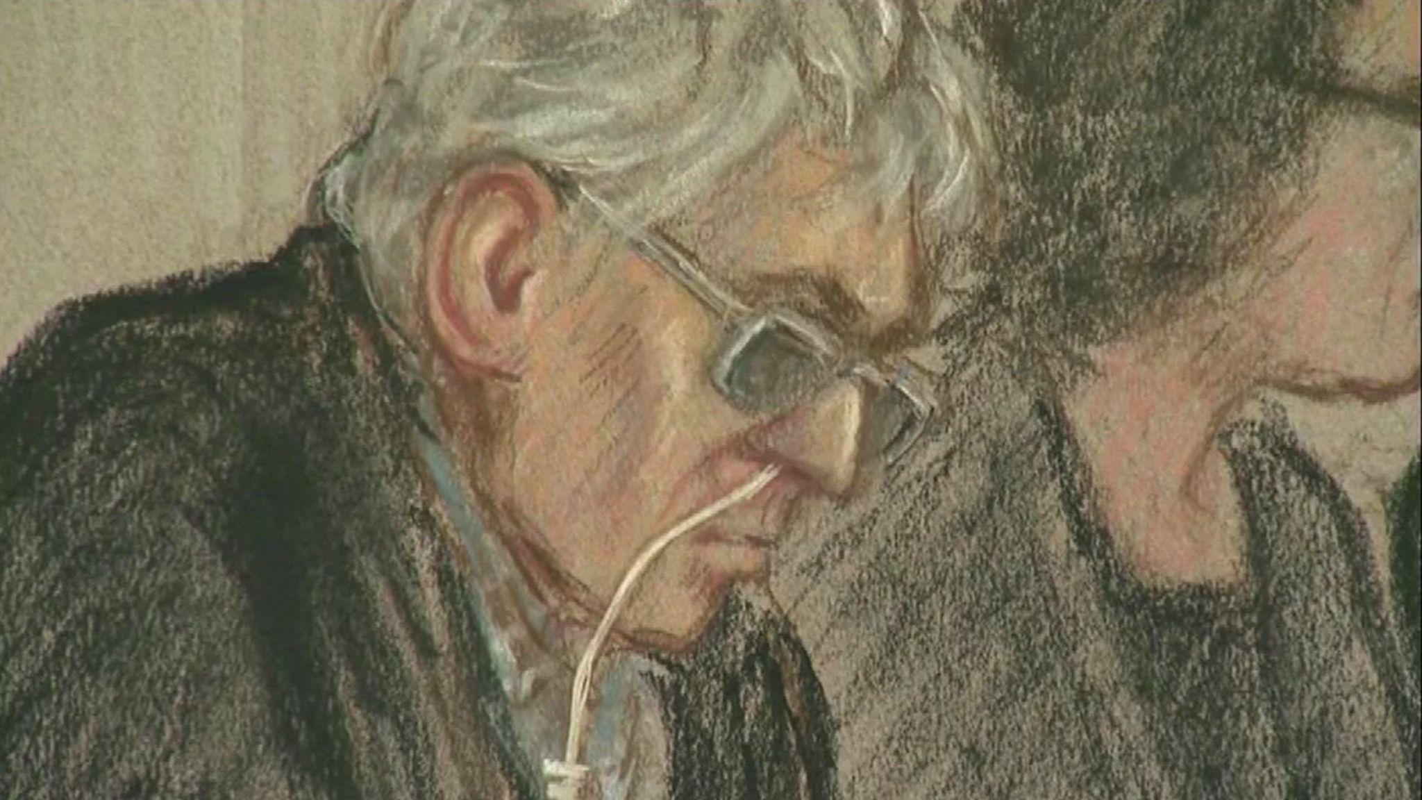 Court artist sketch of Ian Brady