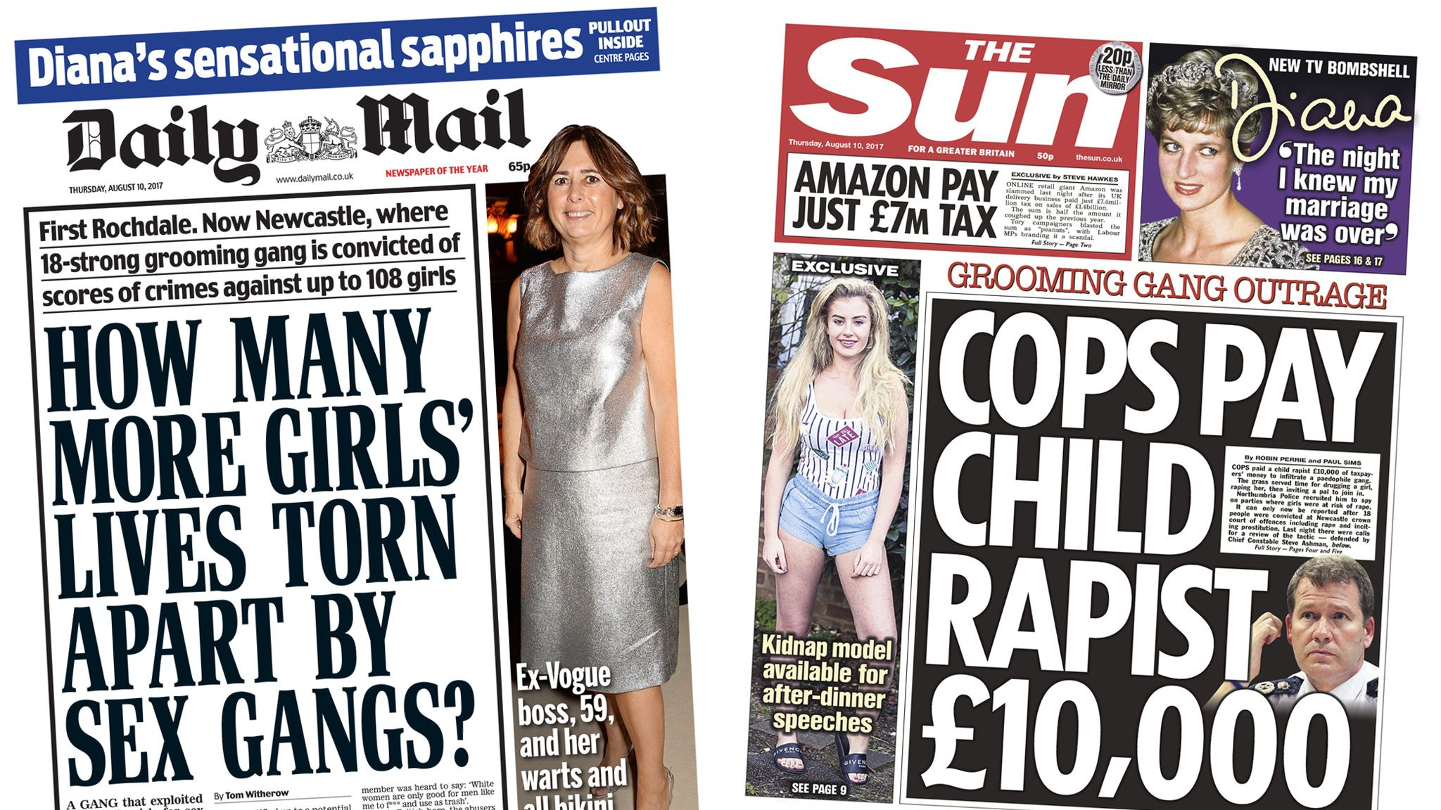 Mail/Sun front pages