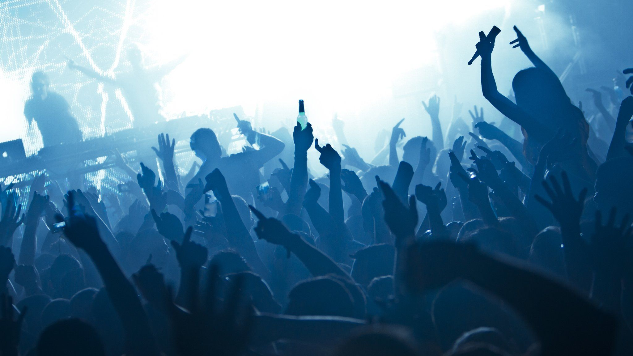 Stock image of clubbers