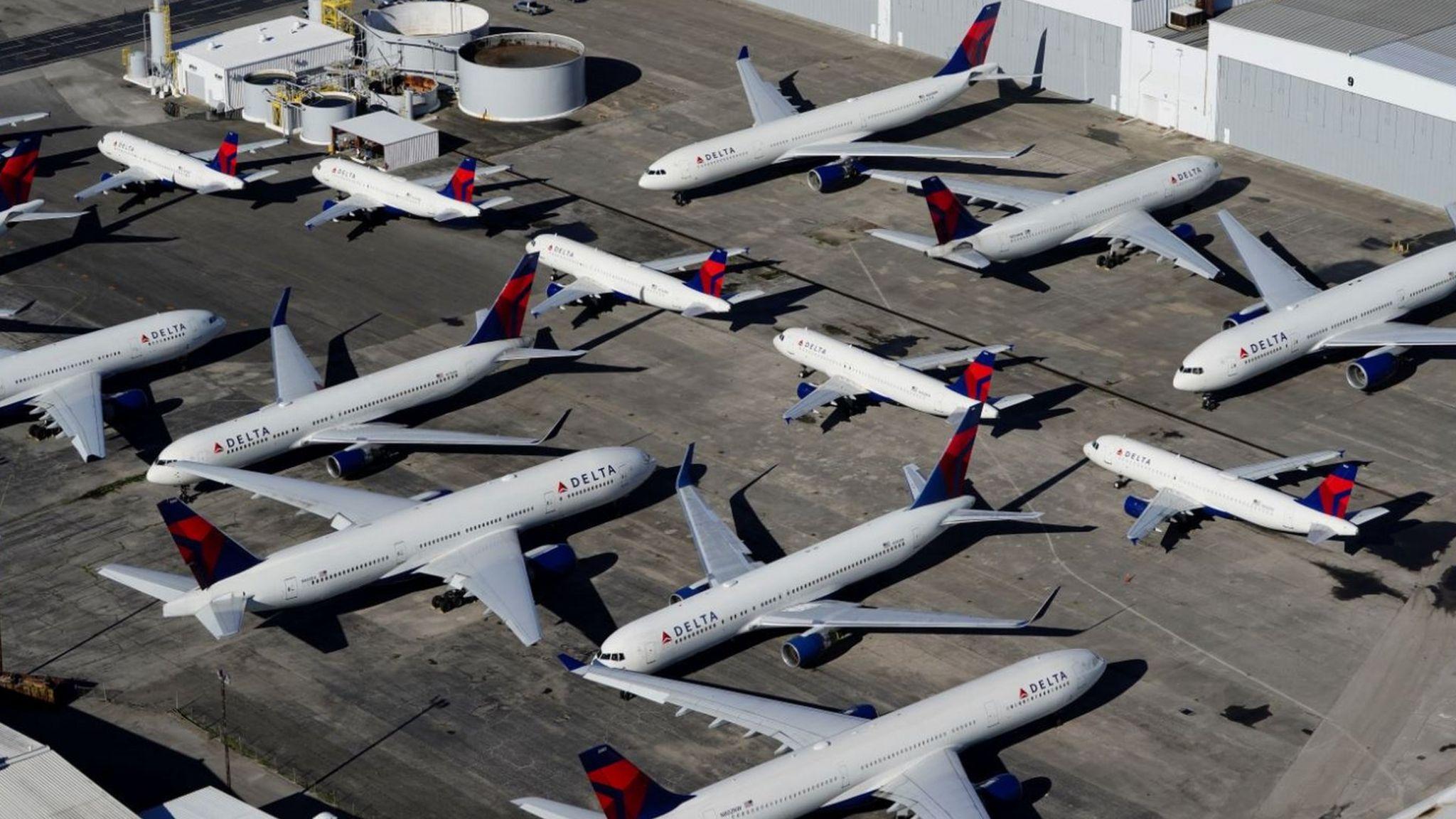 Planes at Birmingham airport